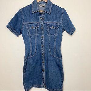 DKNY JEANS 6 denim shirt dress B